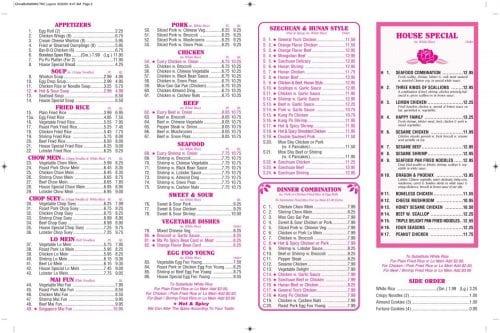 Page 2 of the food menu